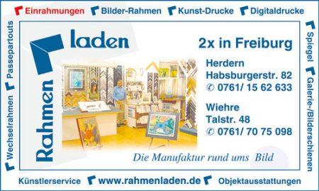 Anzeige Rahmenladen Freiburg