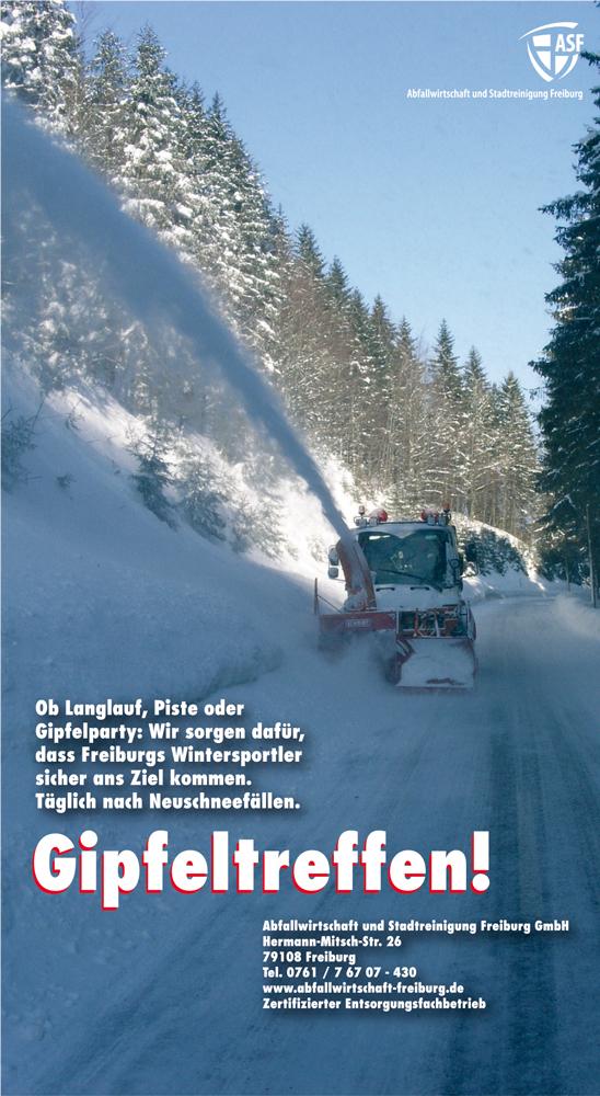 Anzeige Abfallwirtschaft Freiburg Schneeräumung