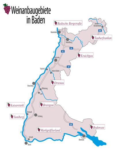 Weinland-Baden-Karte