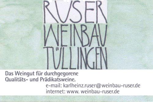 Anzeige Weinbau Ruser Tüllingen