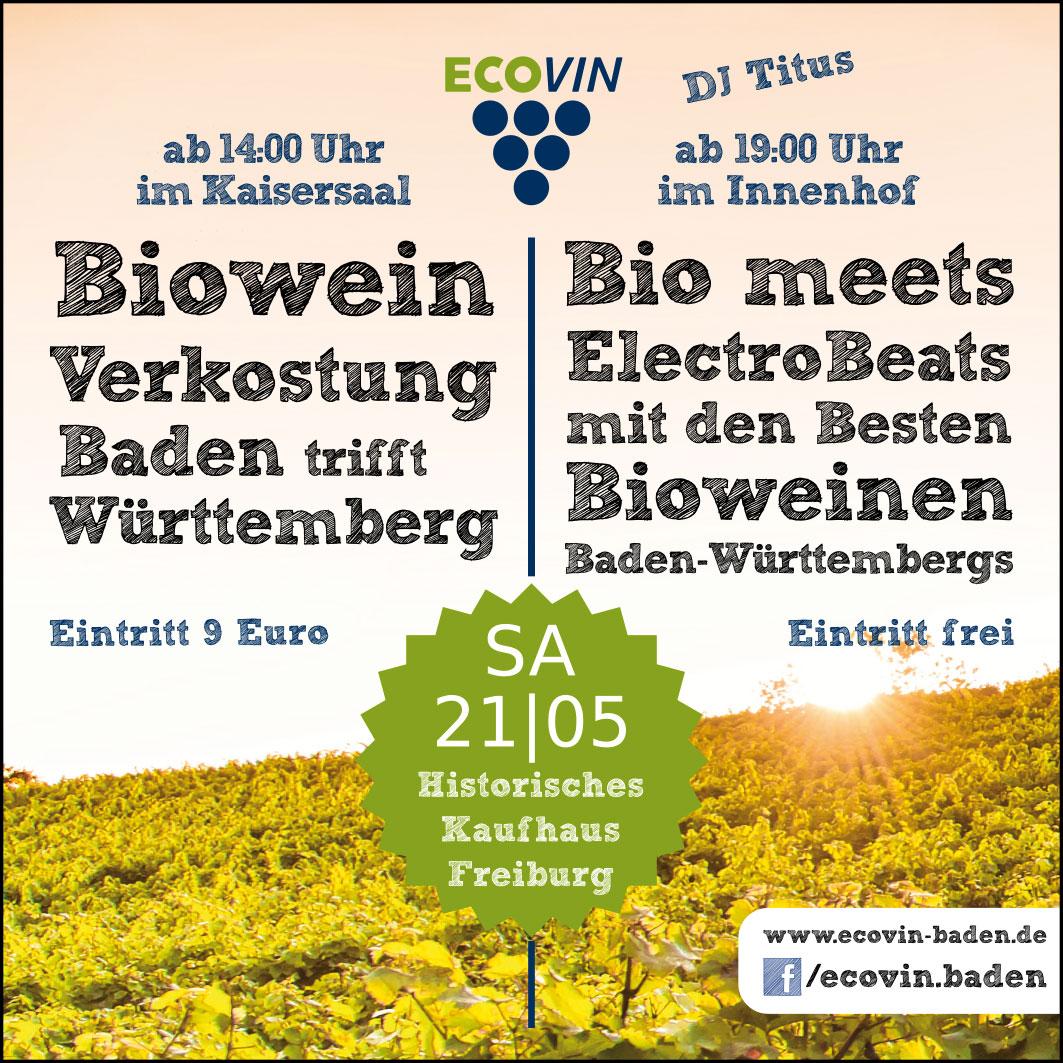 Anzeige Biowein-Verkostung