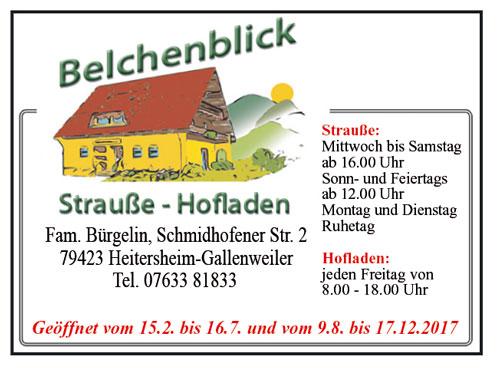 belchenblick Strauße Heitersheim