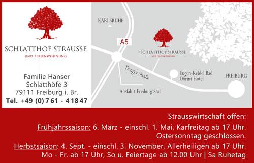 Schlatthof Strausse Freiburg