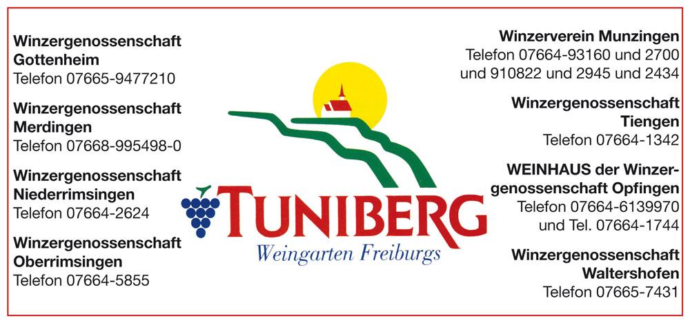 Anzeige Tuniberg Wein
