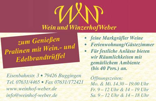 Wein und Winzerhof Weber Buggingen