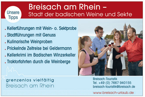 Anzeige Breisach Touristik