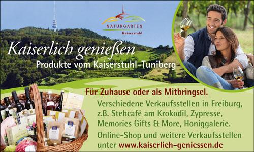Anzeige Naturgarten Kaiserstuhl