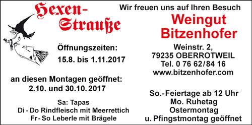 Hexenstraße Weingut Bitzenhofer