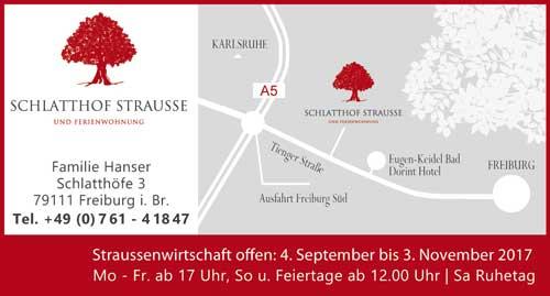 Schlatthof Strauße Freiburg