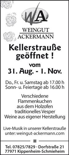 Weingut Ackermann Kippenheim-Schmieheim