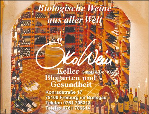 Anzeige Ökowein-Keller Freiburg