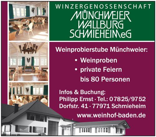 Anzeige Winzergenossenschaft Münchweier