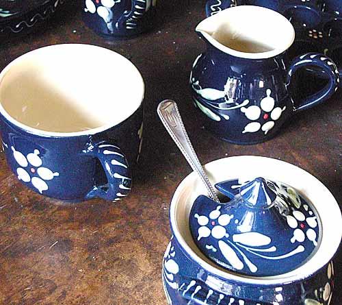 Elsässer Keramik - Kaffee Geschirr