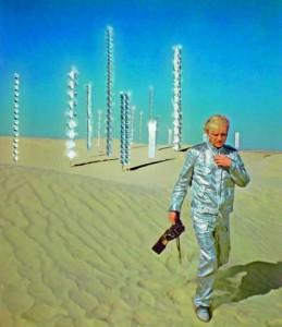 """Heinz Mack während der Dreharbeiten zum Film """"Tele-Mack"""", 1968 © VG Bild-Kunst, Bonn 2015; Foto: Edwin Braun"""