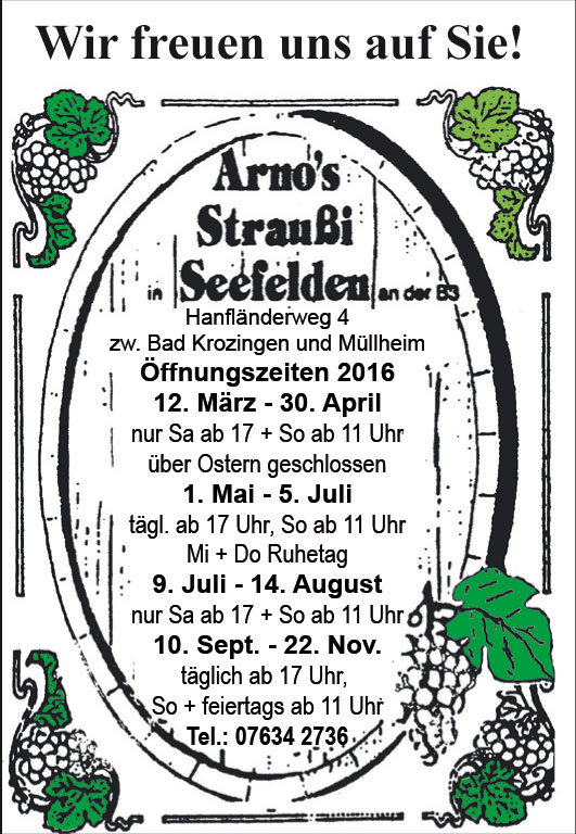 Straußenführer  Arnos-Strauße