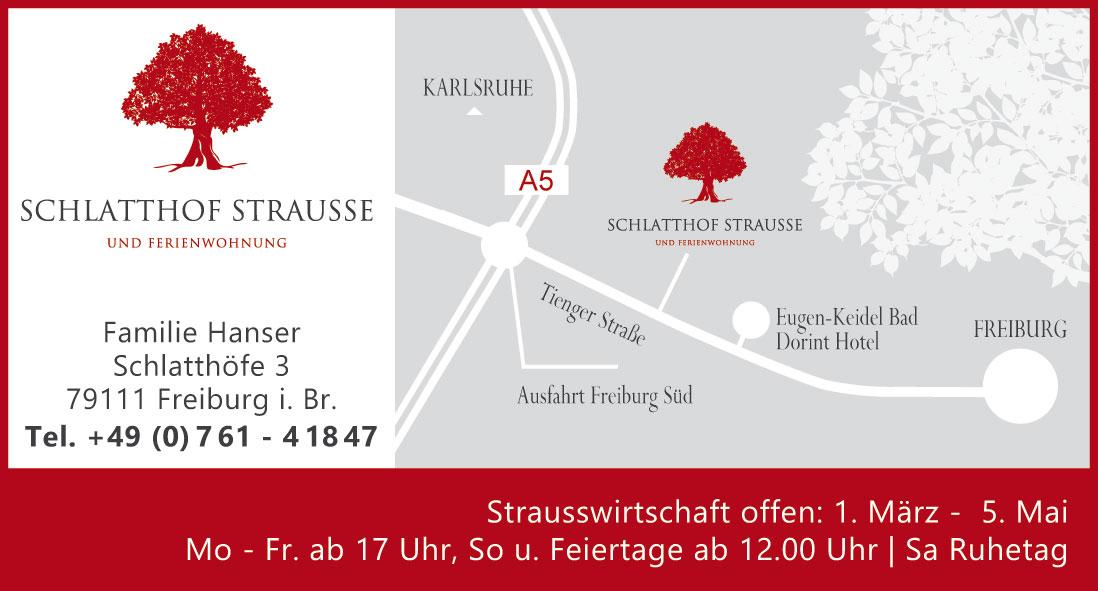 Anzeige Schlatthof Strausse