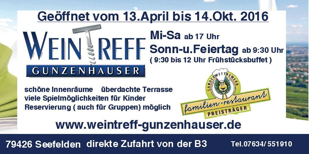 Anzeige Weintreff Gunzenhauser