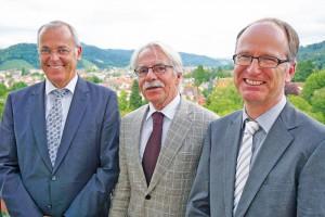 v.l.n.r.: Geschäftsführer Bernd Fey, Dr. Peter Wetzel und Dr. Rainer Blaas.