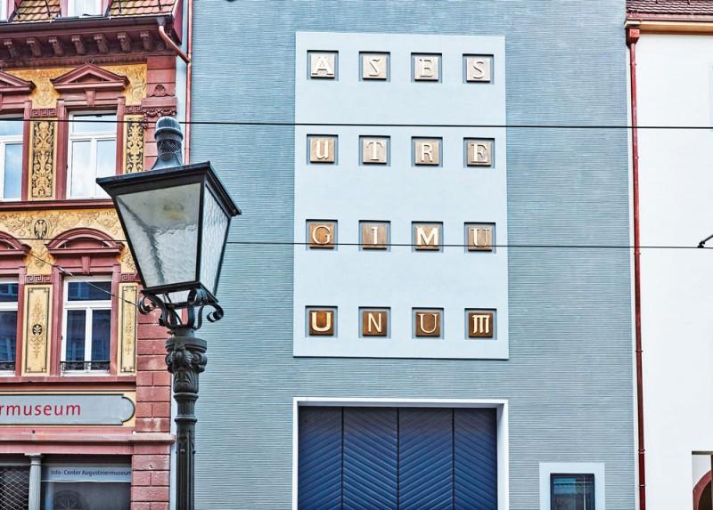 Fassade des Hauses der Graphischen Sammlung, Augustinermuseum Freiburg