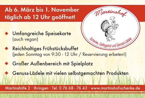 Anzeige Martinshof Schenke