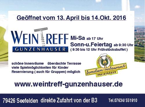 Anzeige Weintreff Gunzenhauser Seefelden