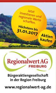 Anzeige Regionalwert AG Freiburg Aktien