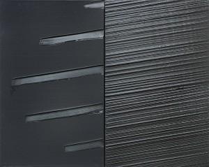 Monochromes Werk von Pierre Soulages
