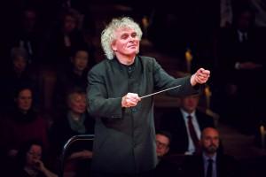 Foto des Dirigenten der Berliner Philharmoniker Sir Simon Rattle