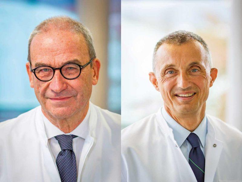 Professor Dr. Jürgen Breul und Professor Dr. Stephan Sorichter (© RKK Klinikum)