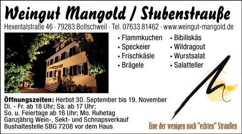 Weingut Mangold Stubenstraße