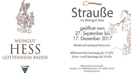 Weingut Hess Strauße