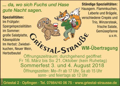 Griestal-Strauße Freiburg-Opfingen