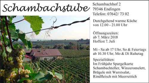 Schambachstube Endingen