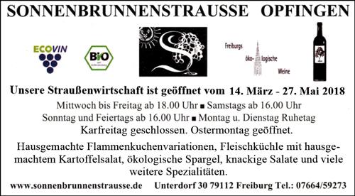 Sonnenbrunnenstrausse Freiburg-Opfingen