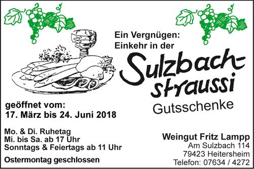 Sulzbachstraussi Lampp Heitersheim