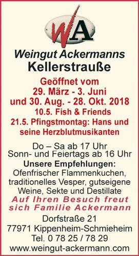 Weingut Ackermanns Kellerstraße Kippenheim-Schmieheim