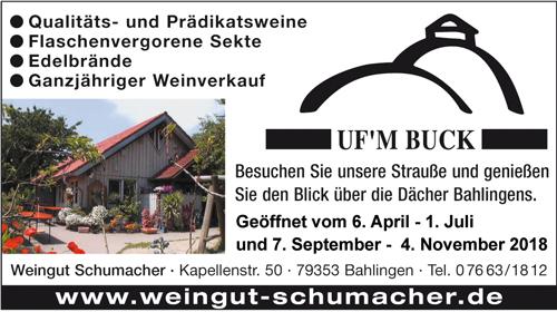 Uf'm Buck Weingut Schumacher Bahlingen Kaiserstuhl