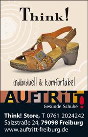 Anzeige Think Schuhe Auftritt Freiburg