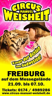 Anzeige Circus Weisheit Freiburg