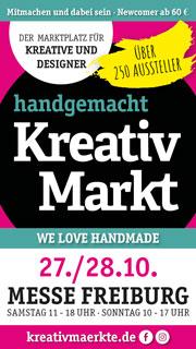 Anzeige Kreativmarkt Messe Freiburg Oktober 2018