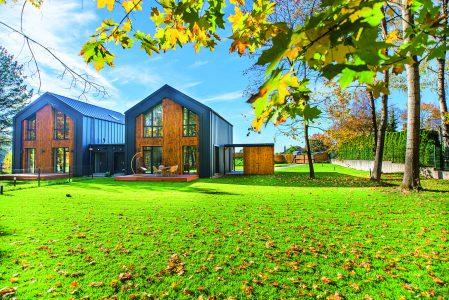 Holz an der Fassade: eine energieeffiziente und moderne Bauvariante
